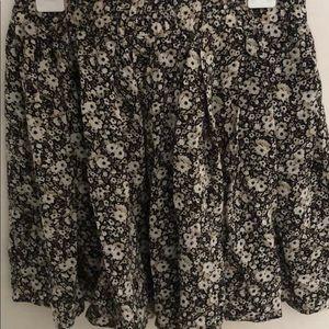 Brandy Melville brown floral luma skirt